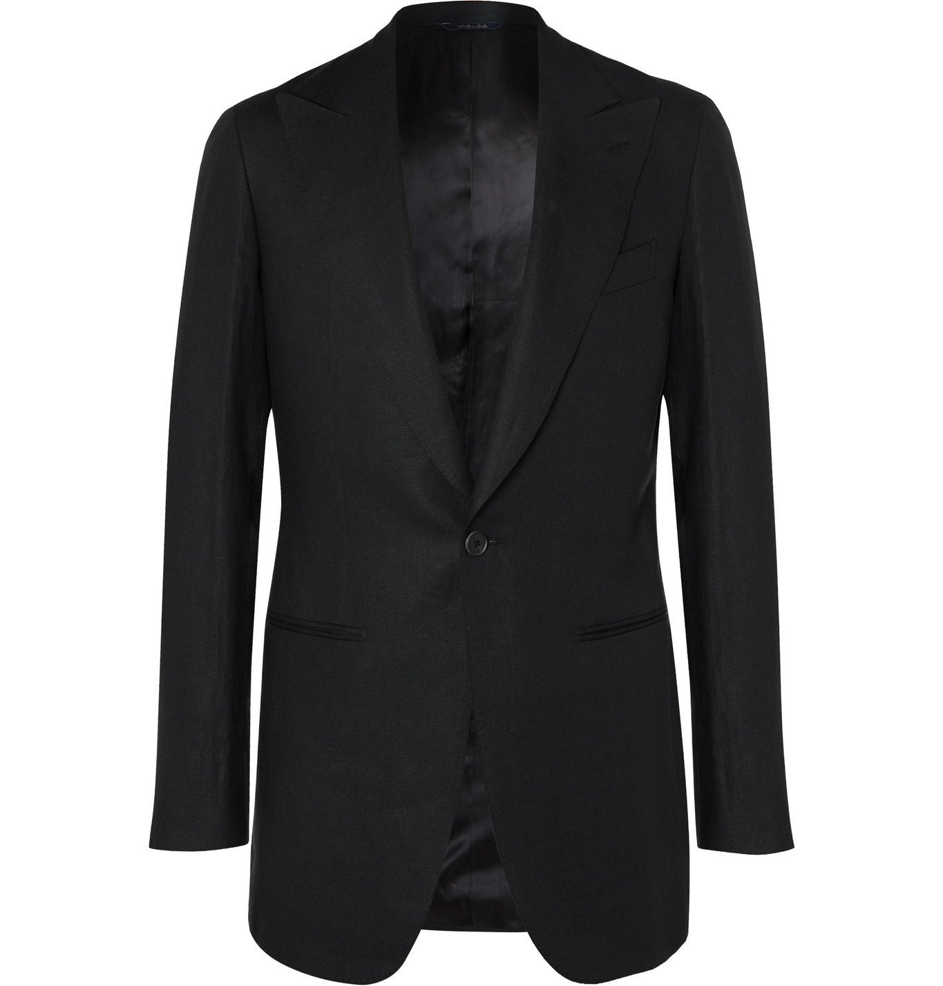 Photo: Saman Amel - Black Linen Suit Jacket - Black