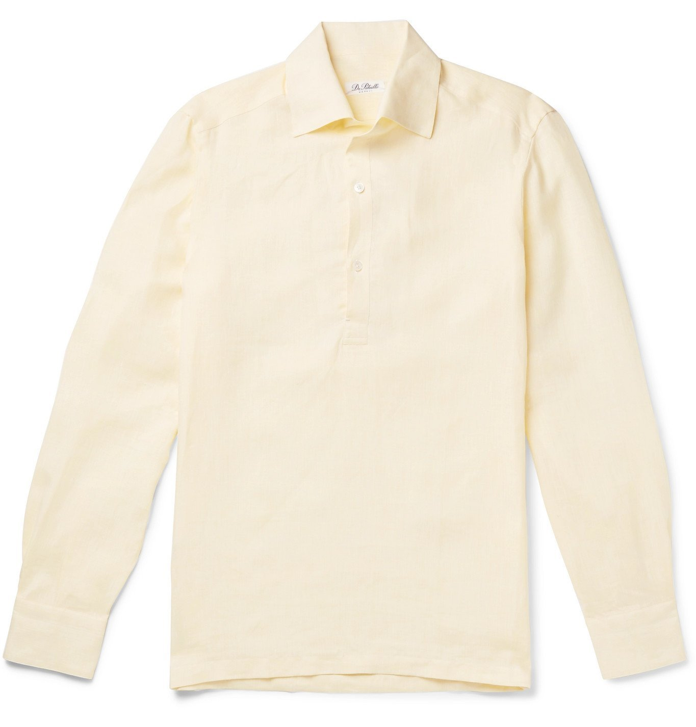 Photo: De Petrillo - Linen Half-Placket Shirt - Yellow