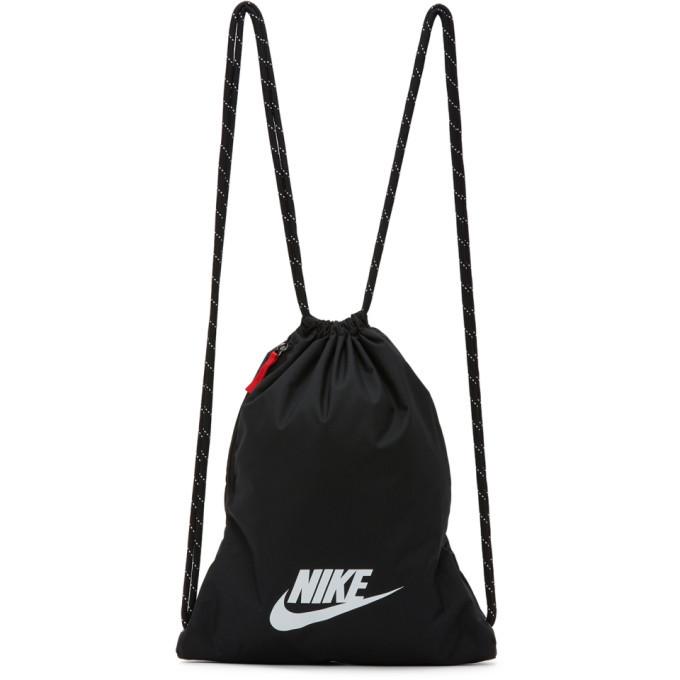 Photo: Nike Black Heritage 2.0 Gymsack Backpack