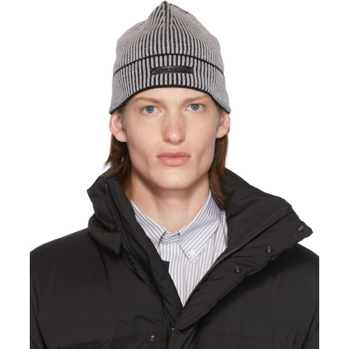 Photo: Givenchy Grey and Black Logo Patch Beanie