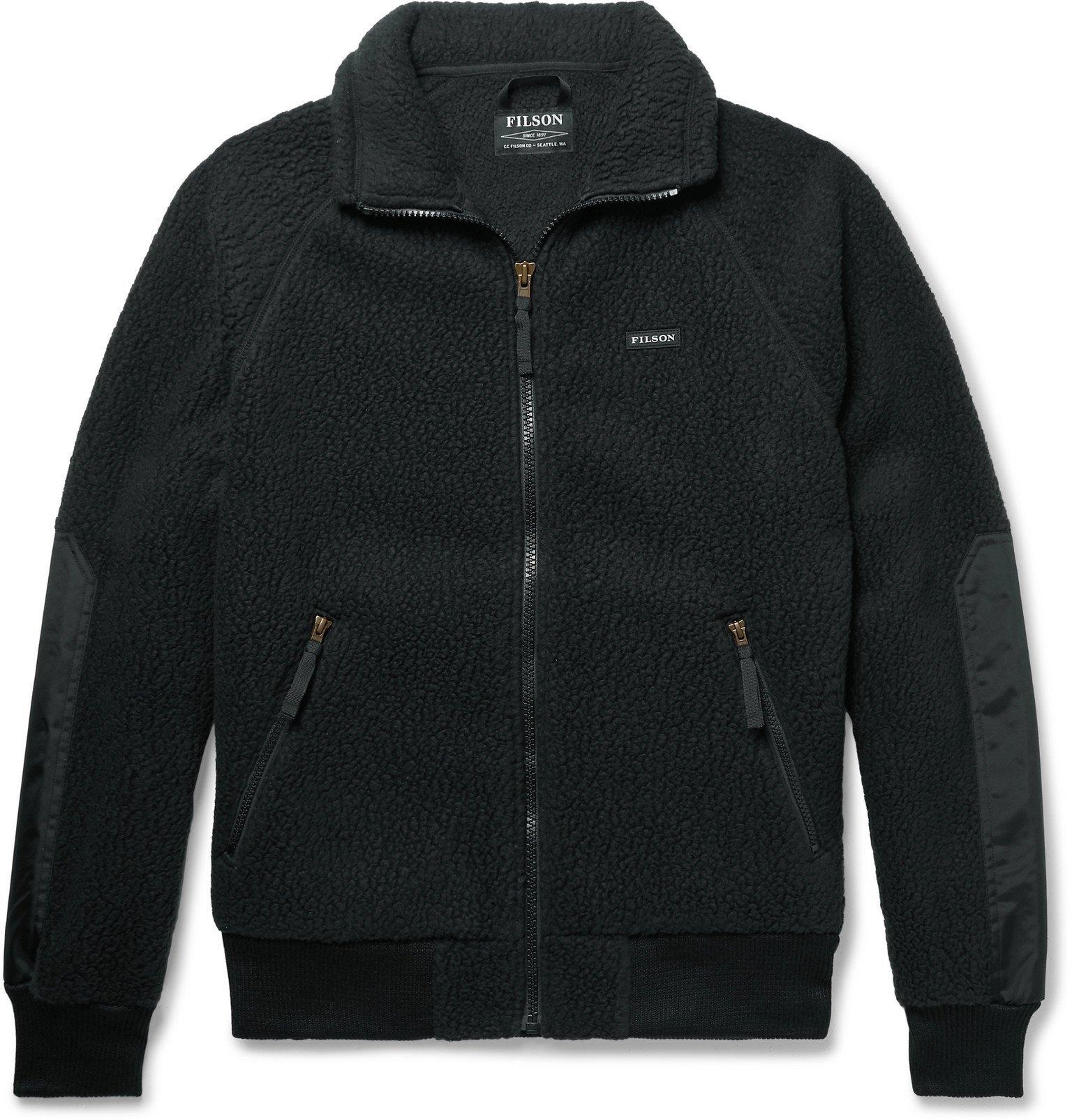 Photo: Filson - Nylon-Trimmed Polartec Thermal Pro Fleece Jacket - Black