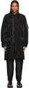 Sacai Black Satin & Poplin Military Coat