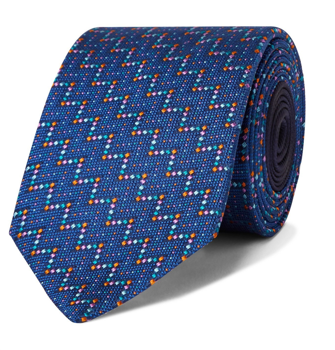 Photo: Missoni - 7cm Silk-Jacquard Tie - Blue