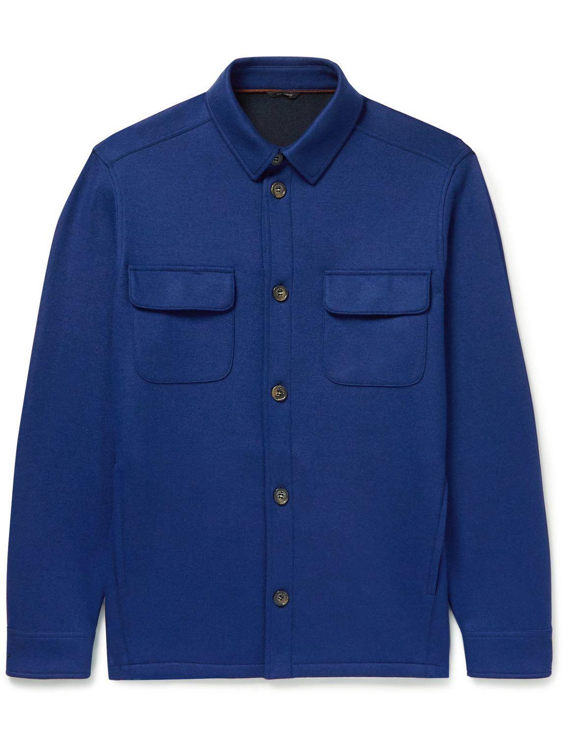 Photo: Loro Piana - Cashmere-Blend Overshirt - Blue