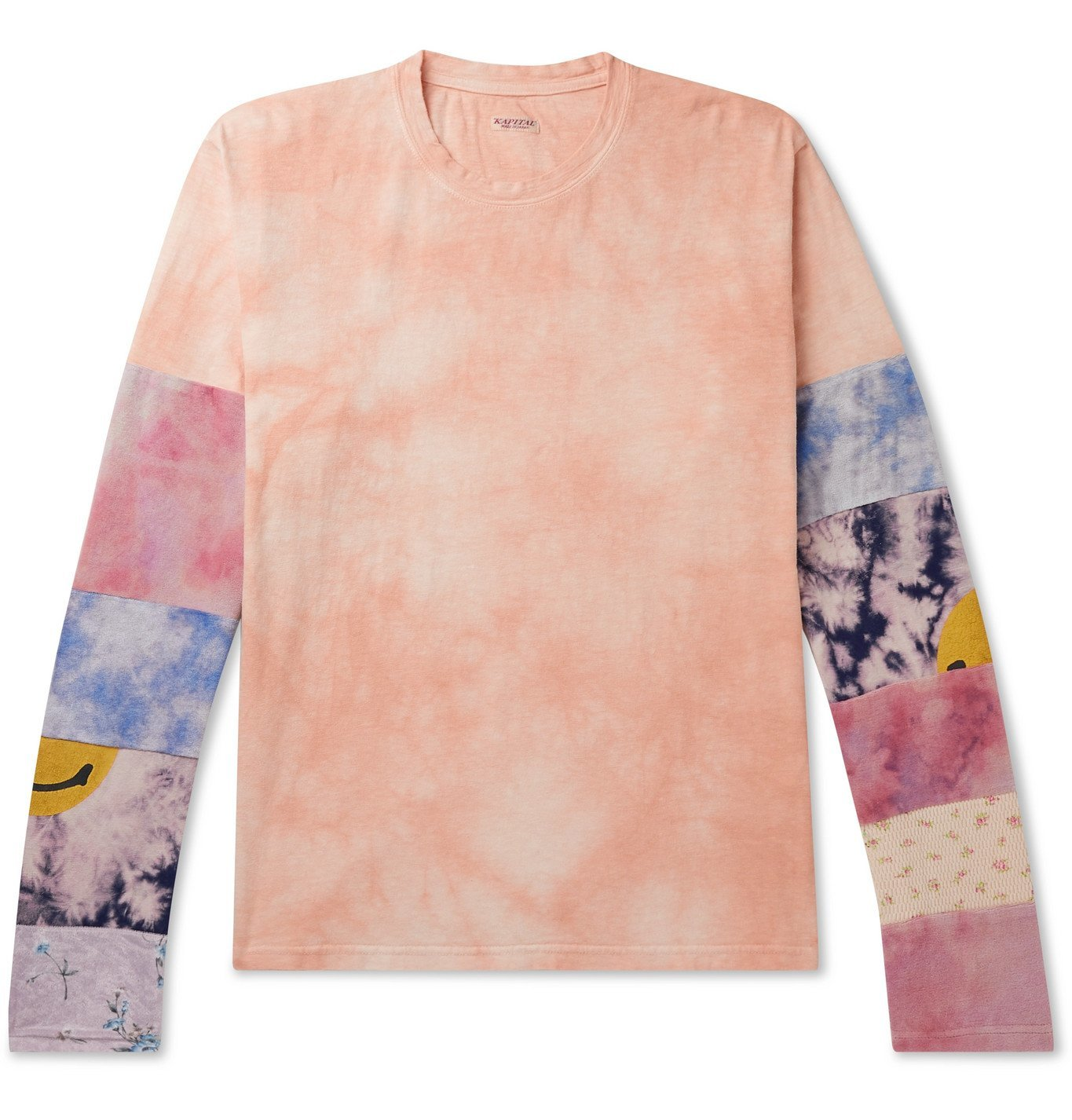 Photo: KAPITAL - Ashbury Patchwork Tie-Dyed Cotton-Jersey T-Shirt - Pink