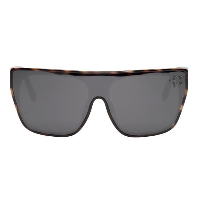 Photo: Stella McCartney Tortoiseshell Square Shield Sunglasses