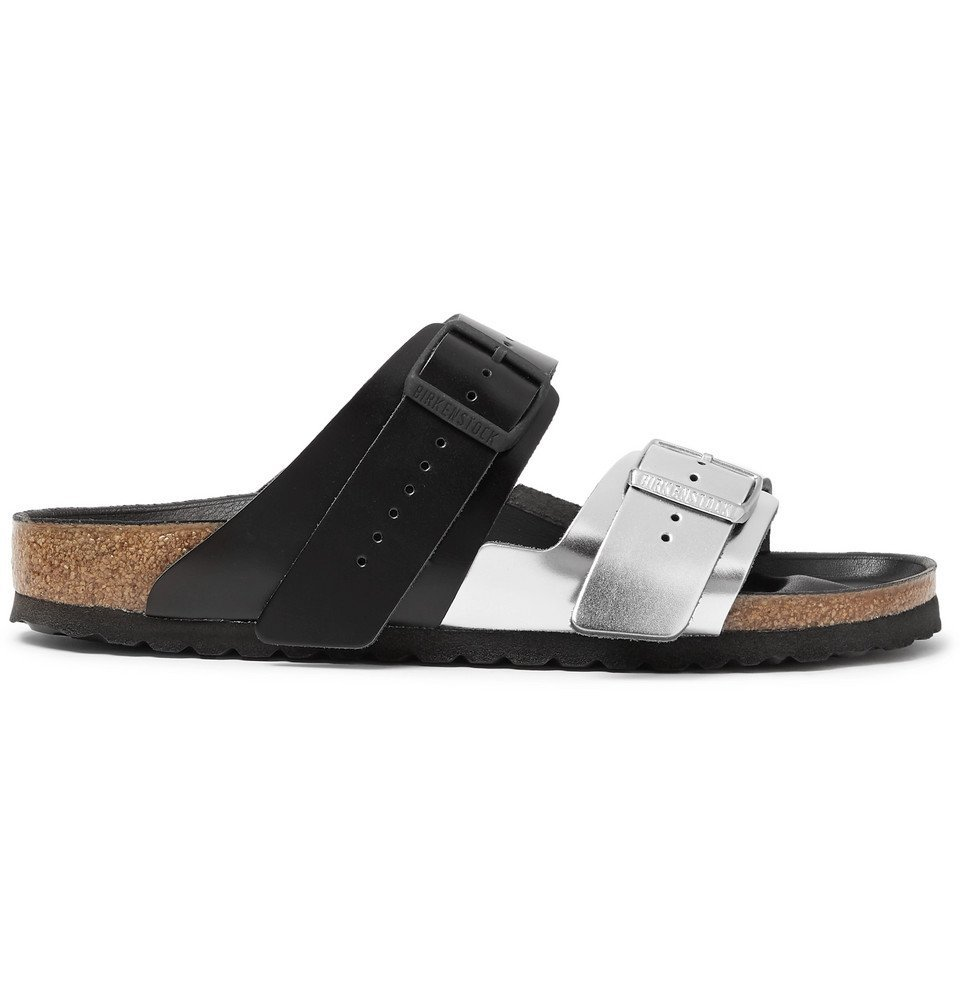 Photo: Rick Owens - Birkenstock Arizona Two-Tone Leather Sandals - Silver