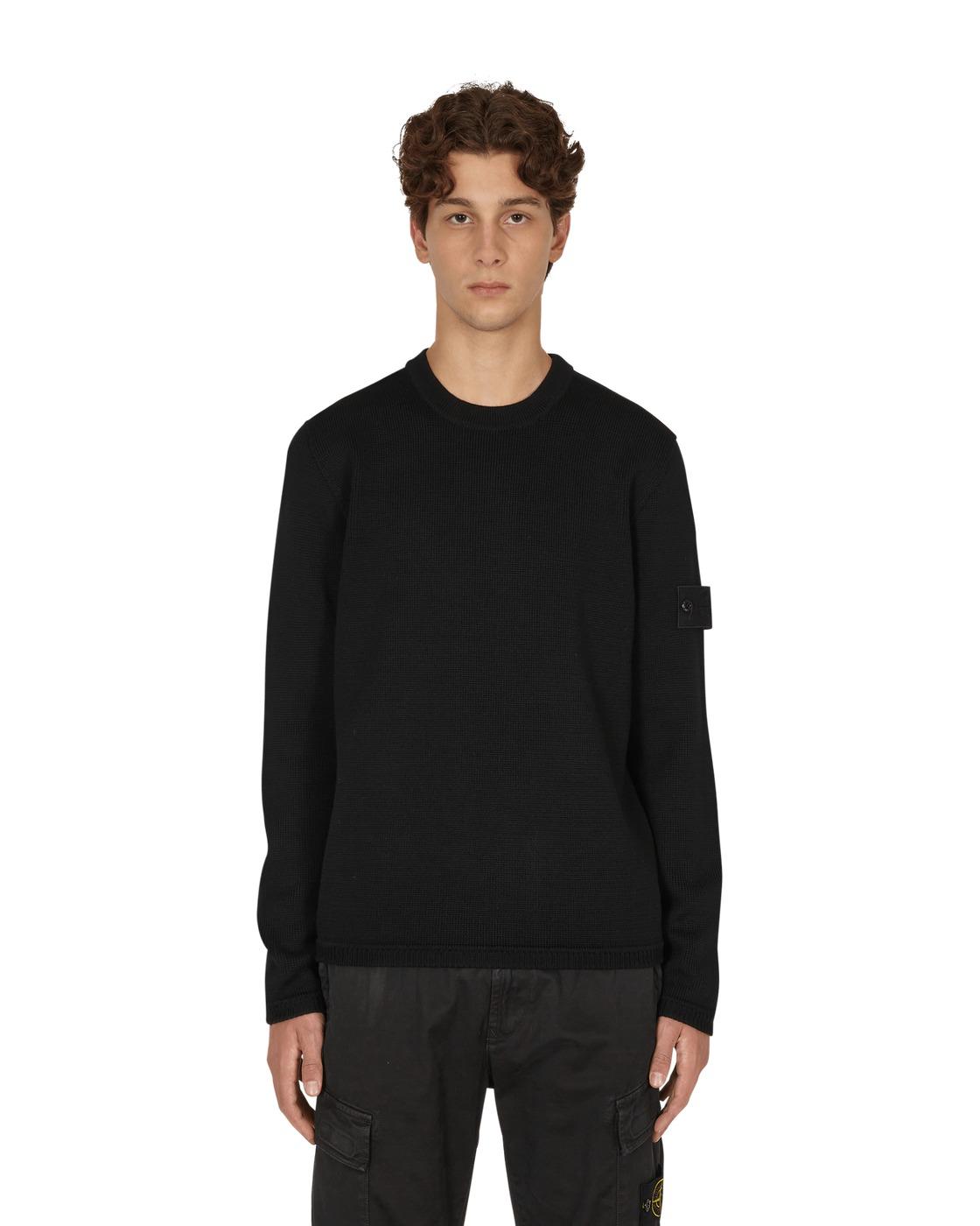 Photo: Stone Island Wool Crewneck Sweater Black