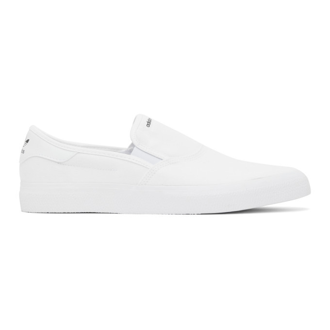 Photo: adidas Originals White 3MC Slip-On Sneakers