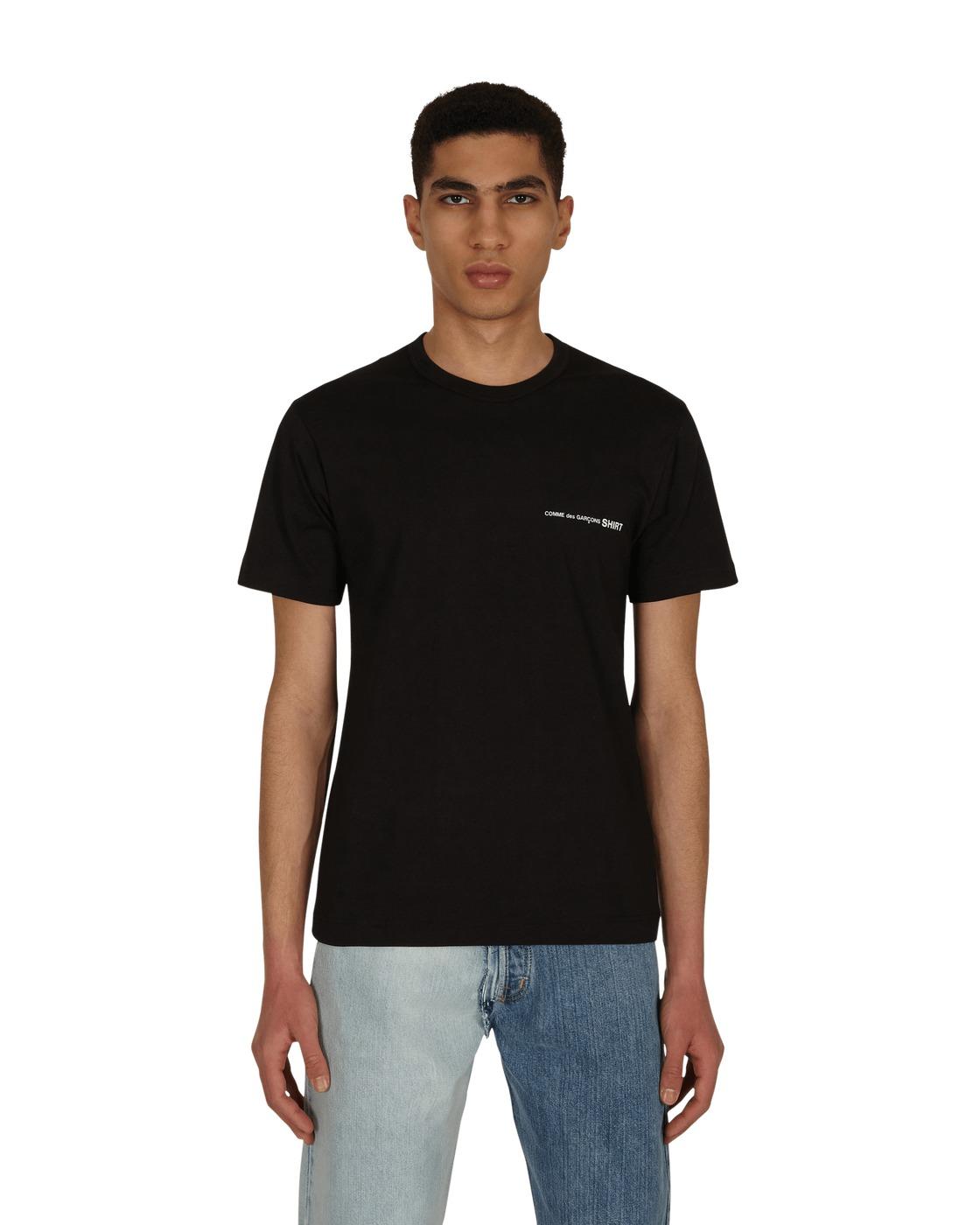 Photo: Comme Des Garcons Shirt Logo T Shirt Black