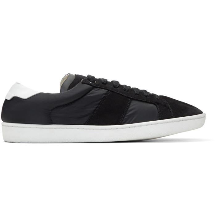 Photo: Saint Laurent Black Suede and Nylon Court Classic SL/01 Sneakers