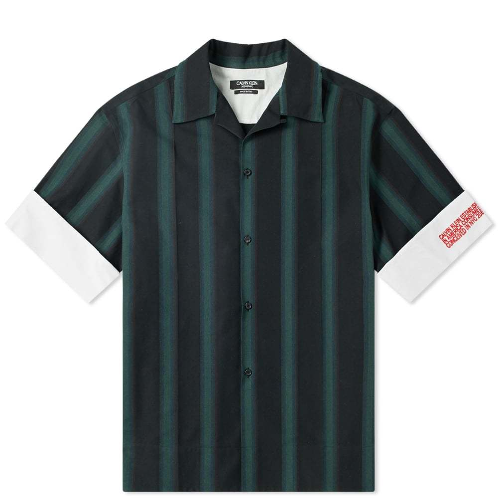 Photo: Calvin Klein 205W39NYC Faded Stripe Vacation Shirt