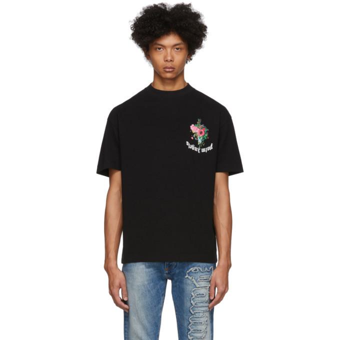 Photo: Palm Angels Black Flowers T-Shirt