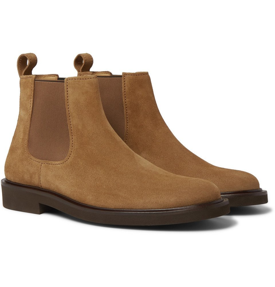 Photo: A.P.C. - Simeon Suede Chelsea Boots - Brown