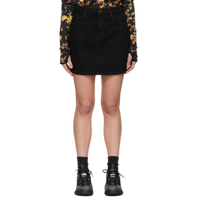 MCQ Black Straight Miniskirt