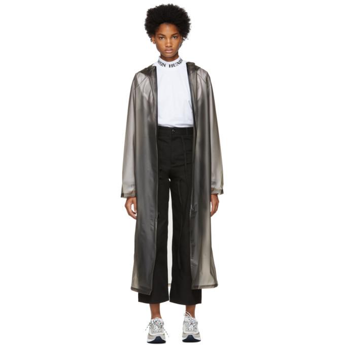 Photo: Won Hundred Grey Transparent Hooded Raincoat