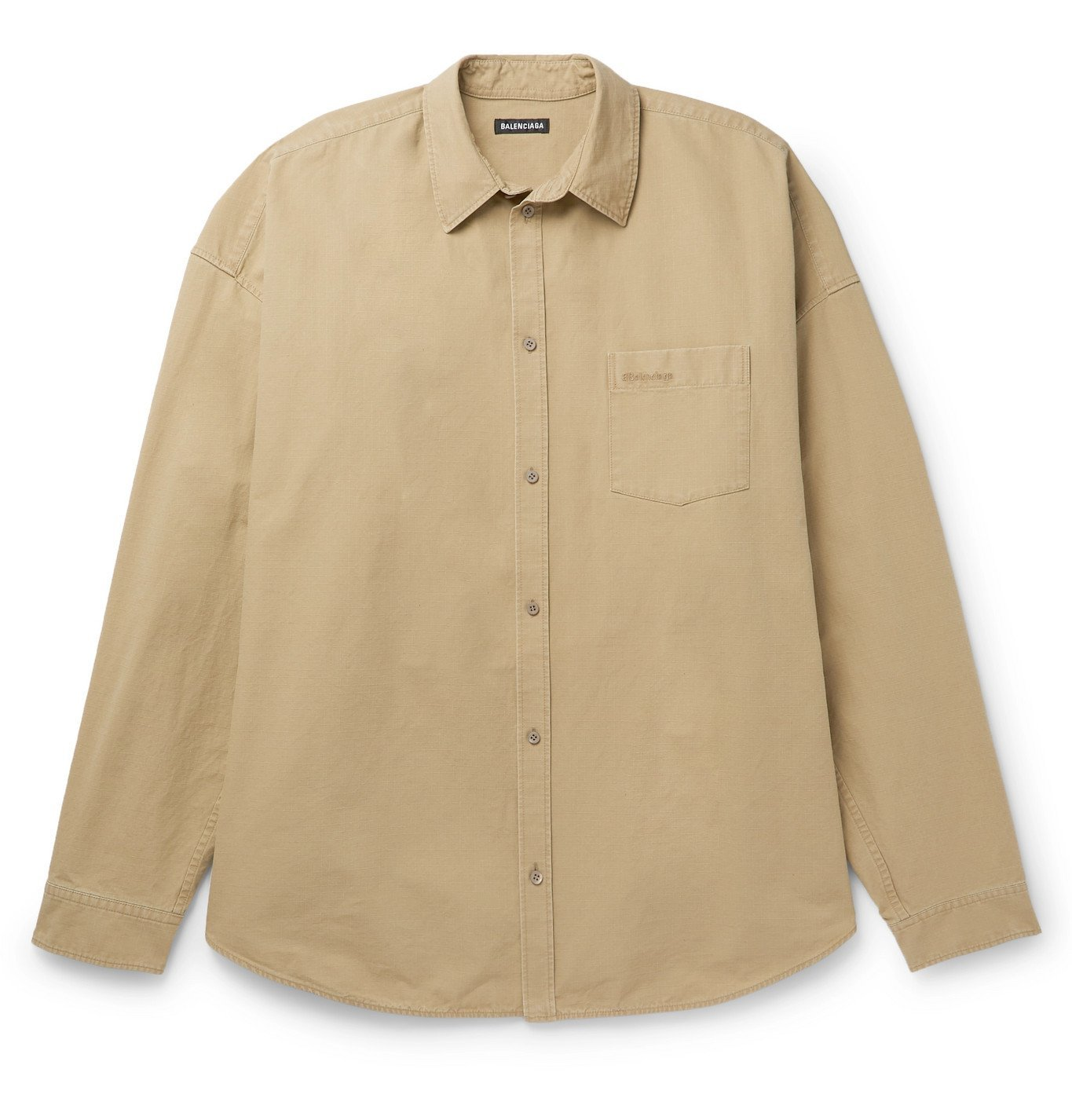 Photo: Balenciaga - Cotton-Ripstop Shirt - Neutrals