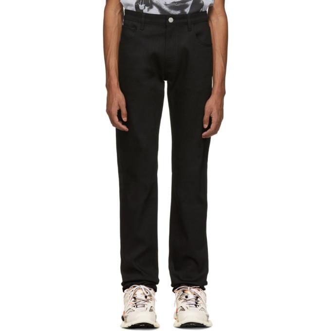Raf Simons Black Regular Fit Patch Jeans