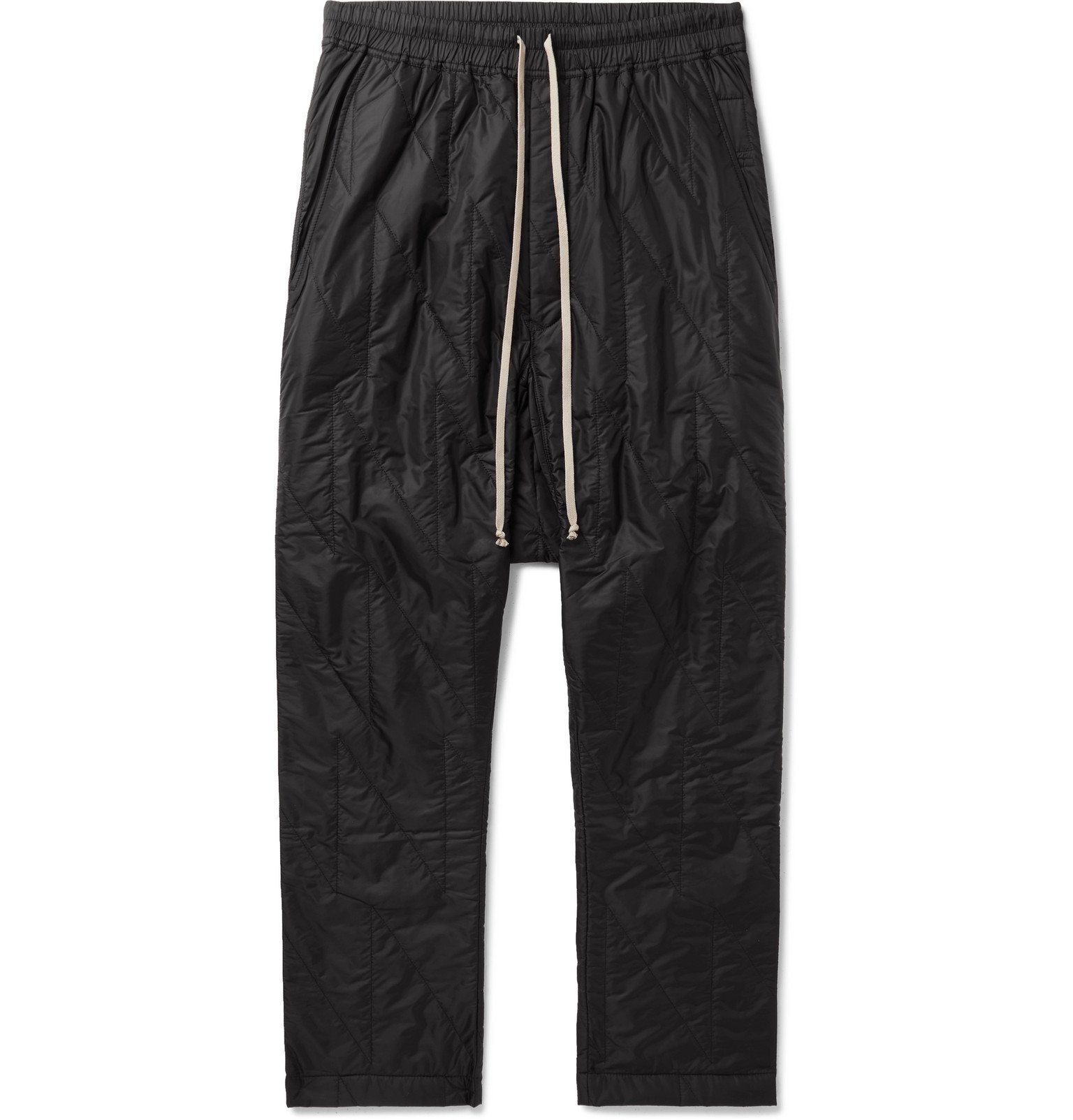Photo: Rick Owens - Quilted Nylon Drawstring Sweatpants - Black