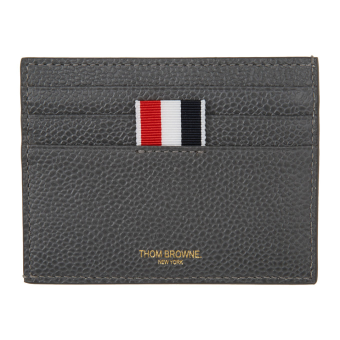 Photo: Thom Browne Grey Dolphin Single Card Holder