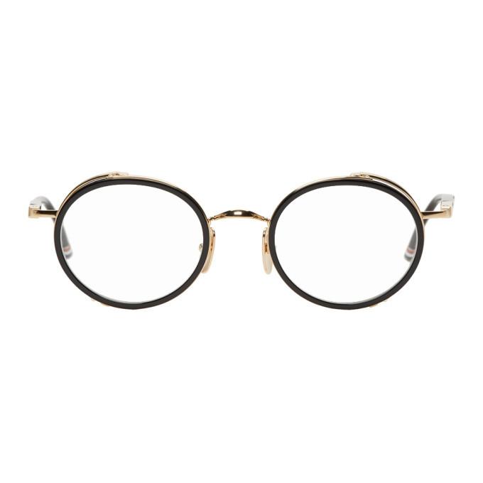 Photo: Thom Browne Black and Gold TB-813 Glasses