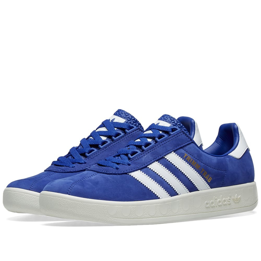 Photo: Adidas Trimm Trab Active Blue, White & Gold