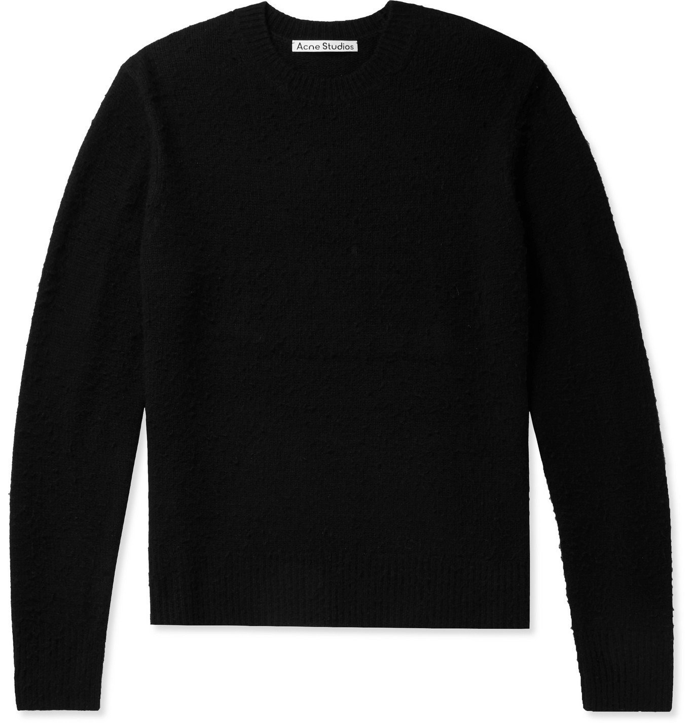 Photo: Acne Studios - Pilled Wool and Cashmere-Blend Sweater - Black
