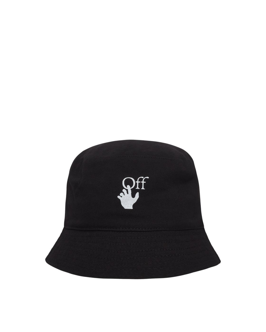 Photo: Off White Logo Print Bucket Hat Black/White