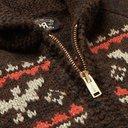 RRL - Intarsia Wool, Cotton, Alpaca, Silk and Linen-Blend Zip-Up Cardigan - Men - Brown