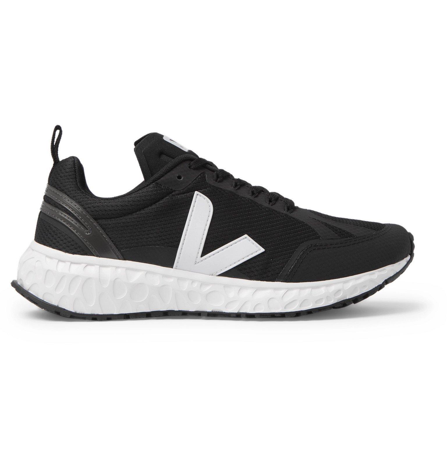Photo: Veja - Condor Rubber-Trimmed Mesh Running Sneakers - Black