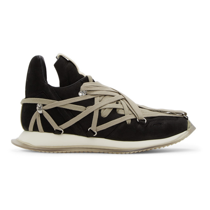 Photo: Rick Owens Black Suede Maximal Runner Sneakers