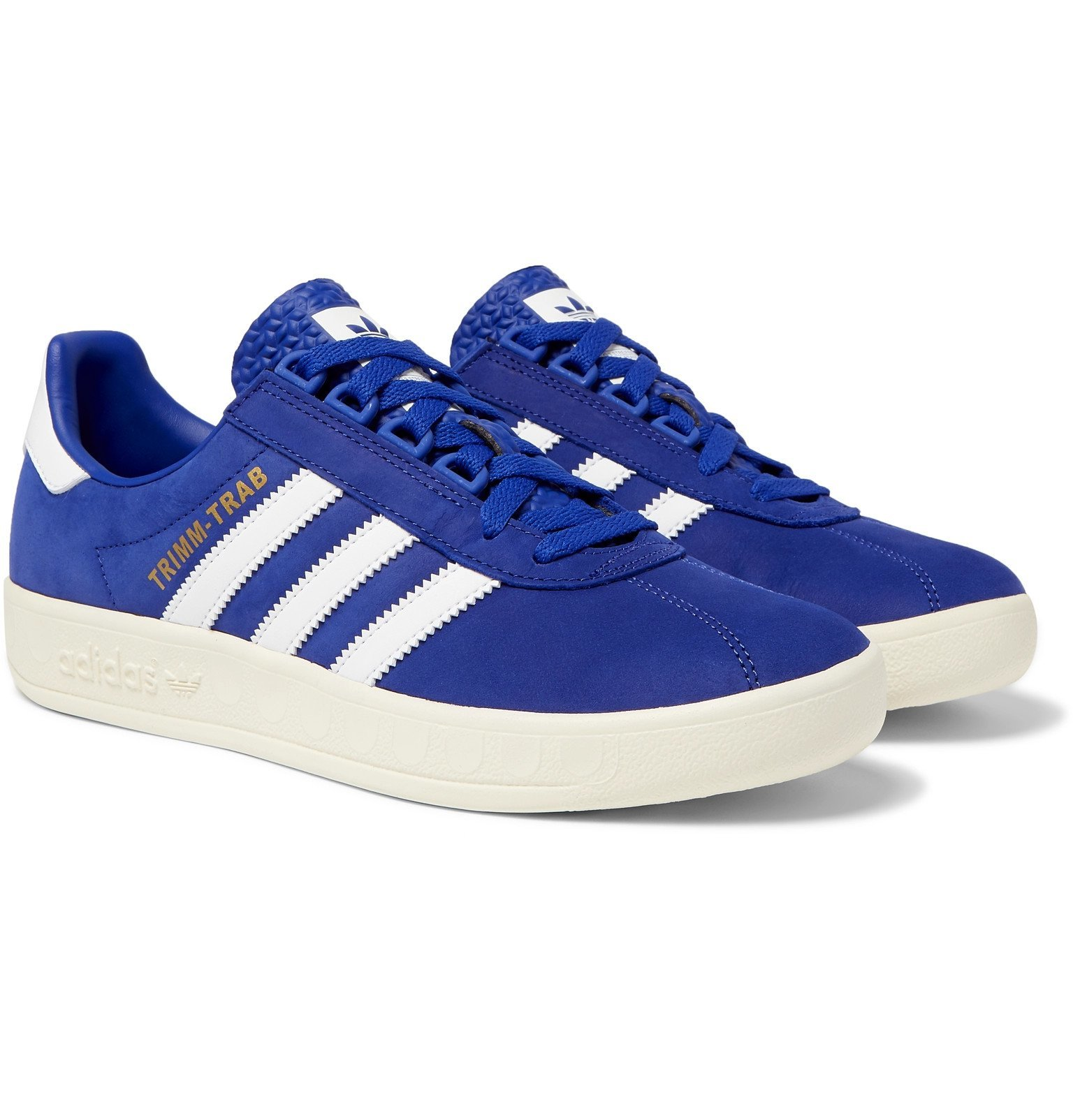 Photo: adidas Originals - Trimm-Trab Leather-Trimmed Suede Sneakers - Blue