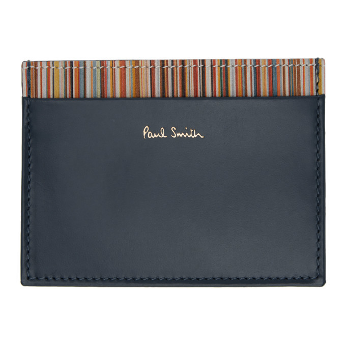Photo: Paul Smith Blue Multi Stripe Card Holder