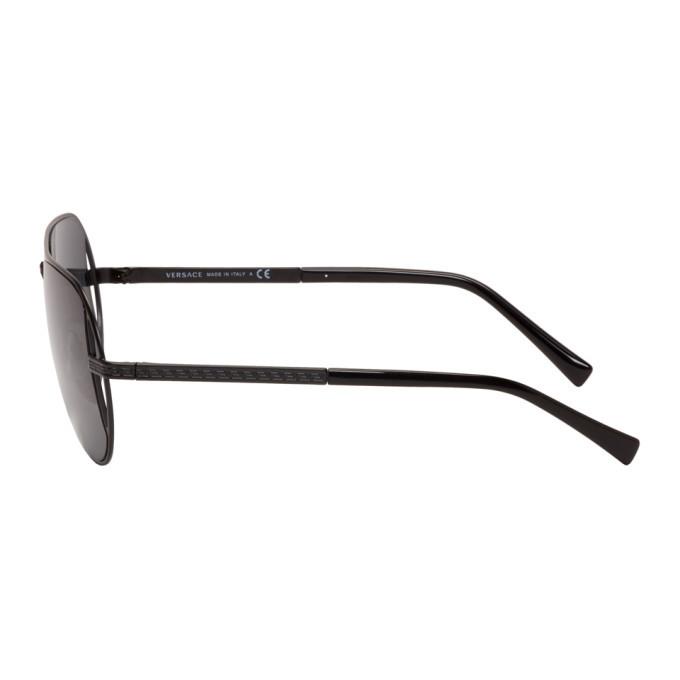 Versace Black Grecamania Pilot Sunglasses