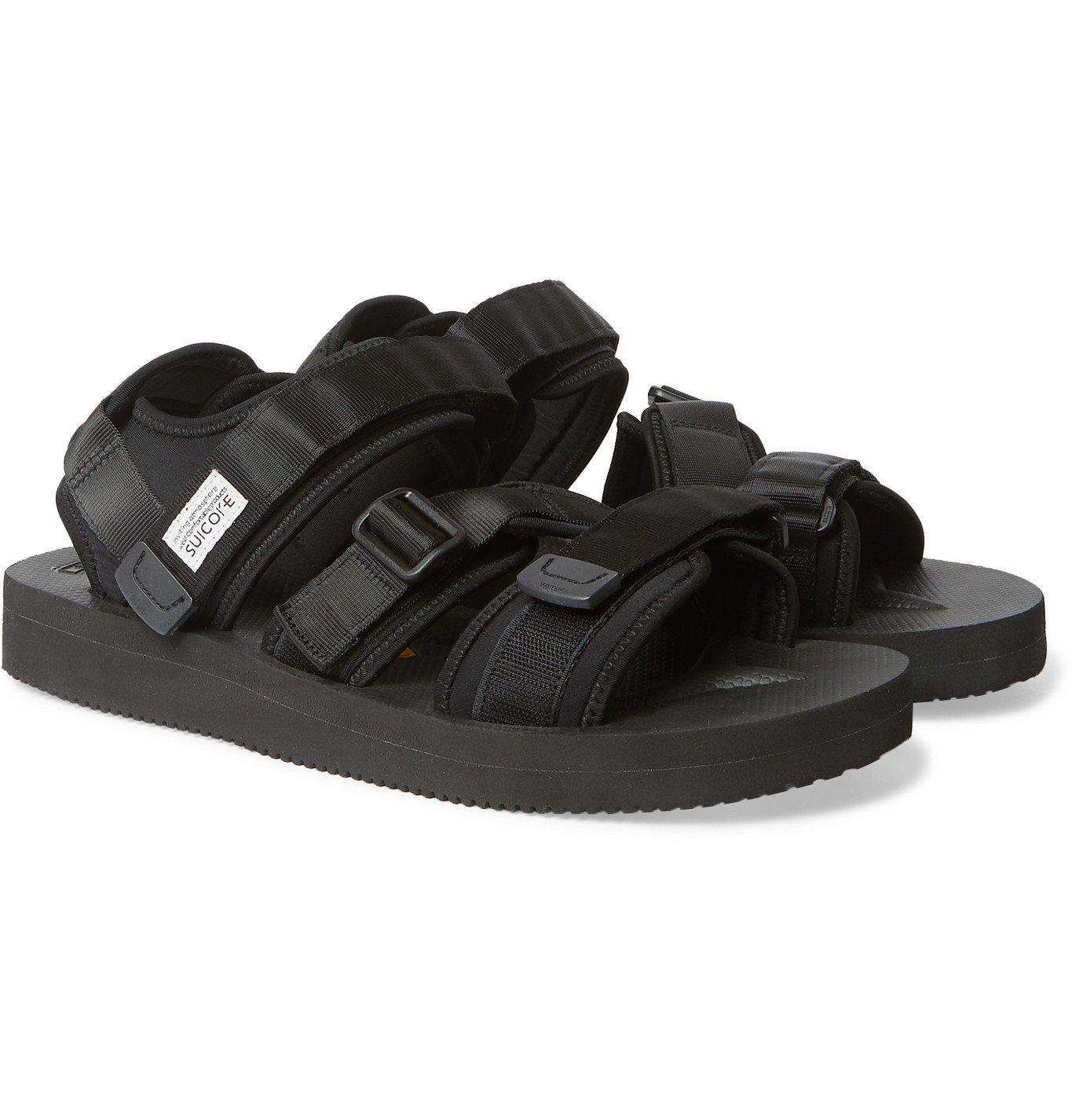 Photo: Suicoke - Kisee-V Webbing and Neoprene Sandals - Black