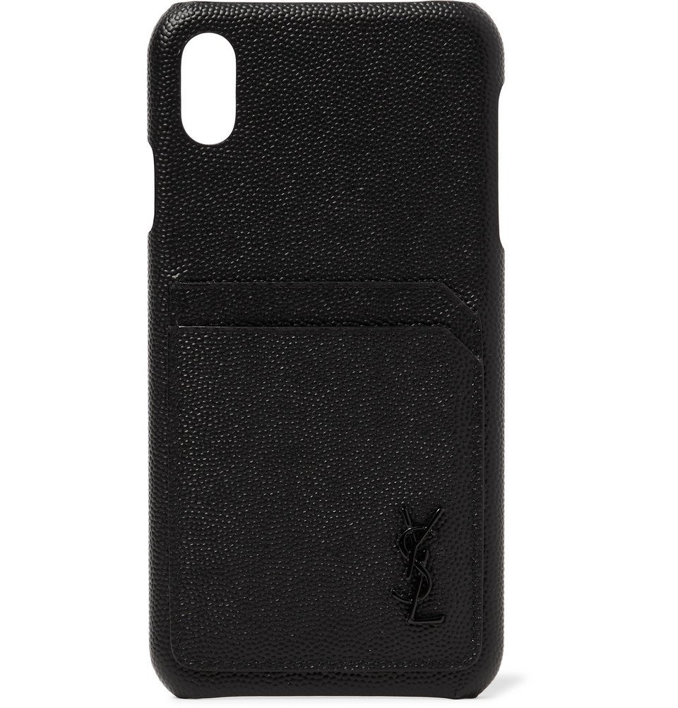 Photo: SAINT LAURENT - Logo-Detailed Leather iPhone XS Max Case - Black
