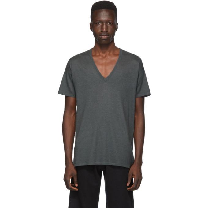 Photo: Frenckenberger Grey Cashmere V-Neck T-Shirt