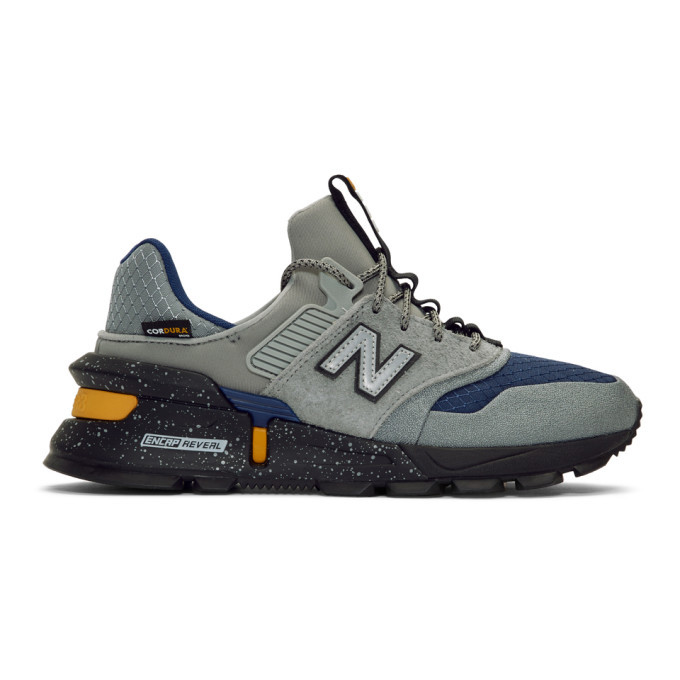 Photo: New Balance Grey and Navy 997 Sport Sneakers