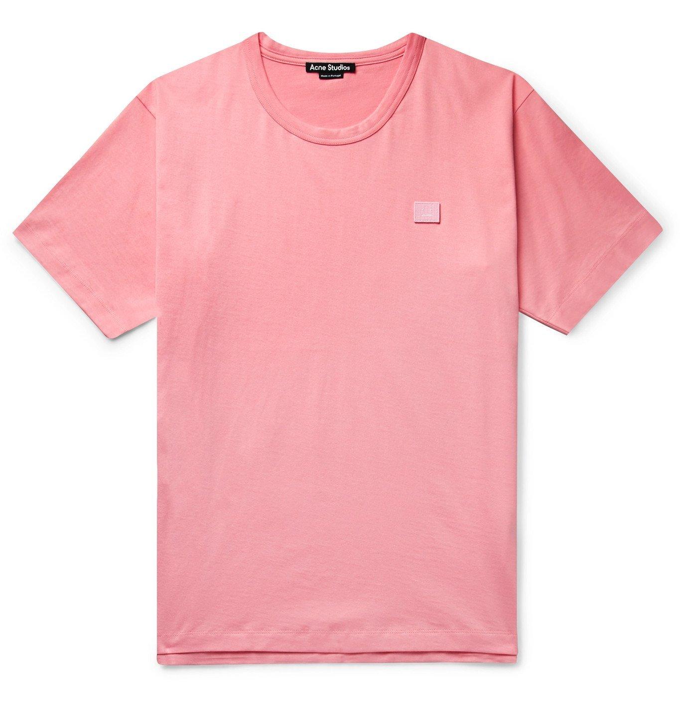 Photo: Acne Studios - Nash Logo-Appliquéd Cotton-Jersey T-Shirt - Pink
