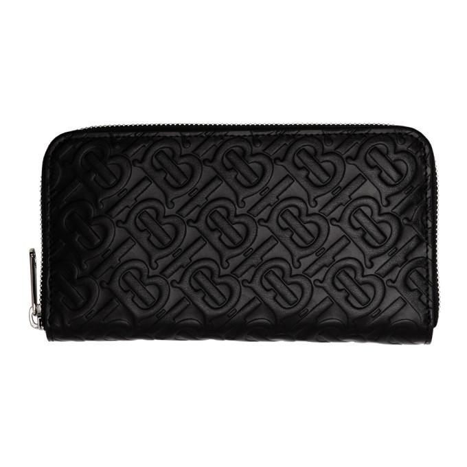 Photo: Burberry Black Large Monogram Zip Wallet