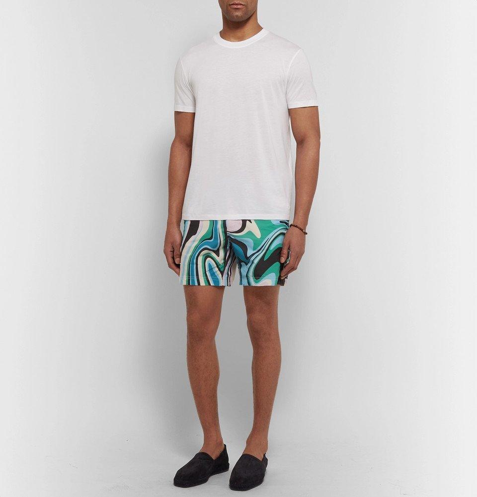 8b75556352 TOM FORD - Slim-Fit Mid-Length Printed Swim Shorts - Men - Multi TOM ...
