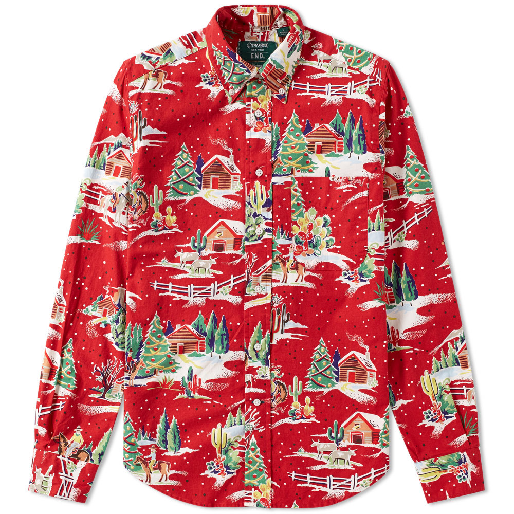 Photo: END. x Gitman Vintage Christmas Shirt