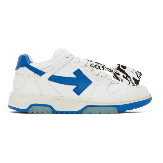 Photo: Off-White White and Blue Out Of Office Sneakers