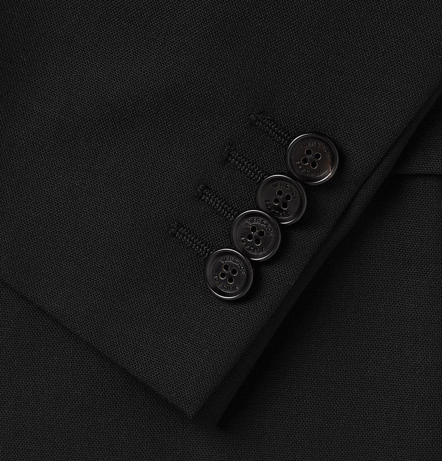 Versace - Black Virgin Wool Suit Jacket - Black