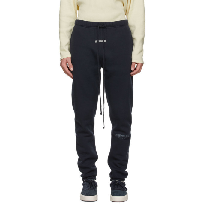 Photo: Essentials SSENSE Exclusive Navy Fleece Lounge Pants