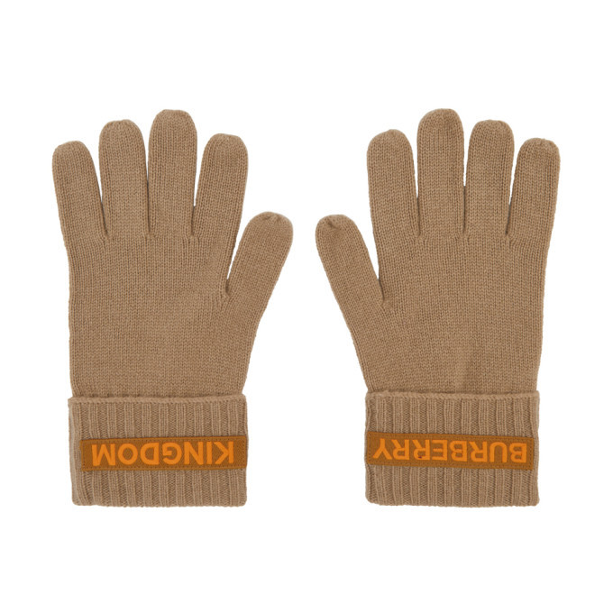 Photo: Burberry Beige Cashmere Logo and Kingdom Gloves