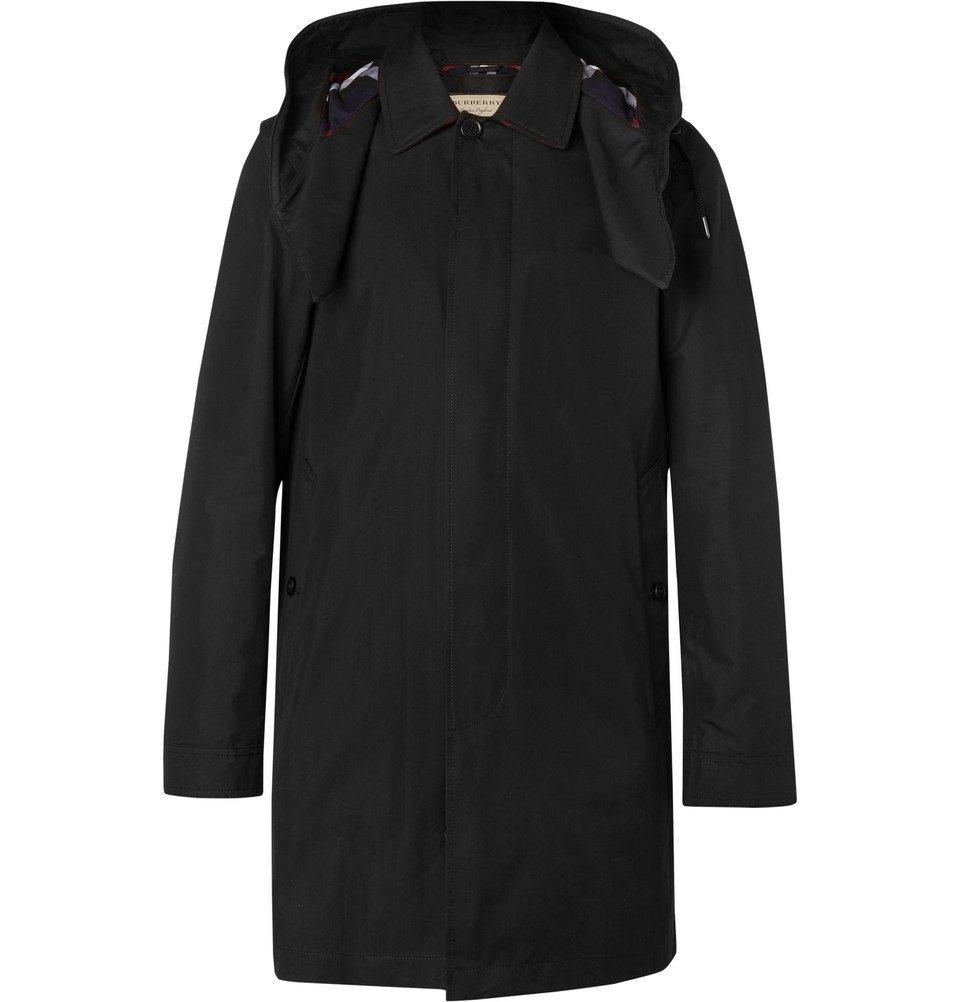 Photo: Burberry - Cotton-Blend Gabardine Hooded Coat with Detachable Gilet - Men - Black