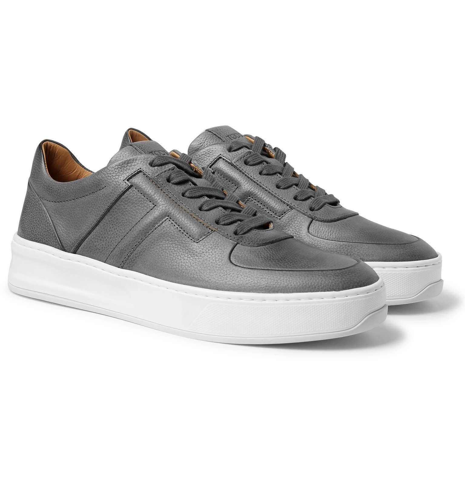 Photo: Tod's - Full-Grain Leather Sneakers - Gray