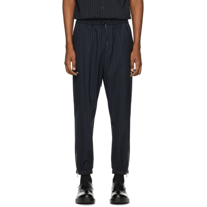 Photo: 3.1 Phillip Lim Navy and White Wool Pinstripe Cargo Pants