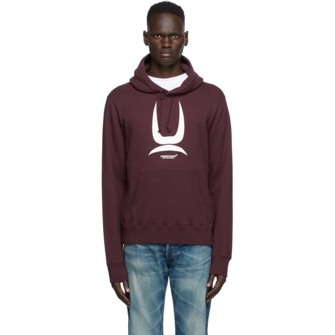 Photo: Undercover Burgundy Logo Hoodie